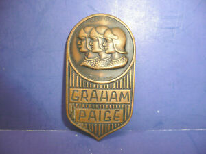 Vintage 1927 1929 Graham Paige Radiator Emblem Badge Ct27