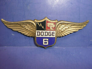 Vintage 1928 1929 Dodge Brothers Victory Six Radiator Emblem Enamel Badge Ct27
