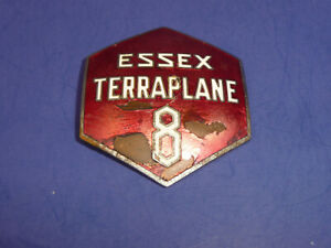 Vintage 1933 Essex Terraplane Eight Radiator Emblem Badge Ct27