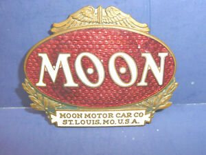 Vintage 1921 1922 Moon Radiator Emblem Badge Ct27