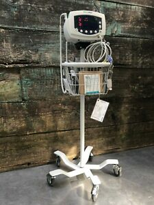 New Battery Welch Allyn 53nto 300 Series Patient Monitor W Stand Ds100 a Spo2