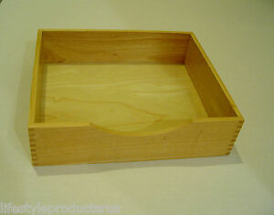 2 New Wood Wooden Stackable Document Letter Tray Office Desk Organizer Trays Box
