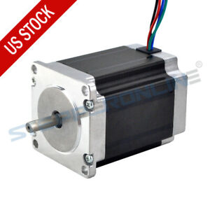 Nema 23 Stepper Motor 1 9nm 269oz in 57x76mm 2 8a 6 35mm Shaft Cnc Router Mill