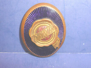 Vintage 1927 1929 Chrysler Radiator Emblem Enamel Badge Ct27