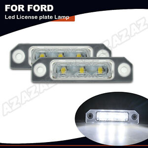 2x Led License Number Plate Lamp For Ford Flex 09 17 Focus 08 11 Fusion Mustang