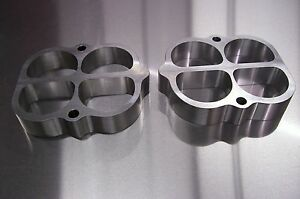 Fits Weiand Tunnel Ram Aluminum Performance Spacer Gasser Riser Sbc Sbf 1 Tall