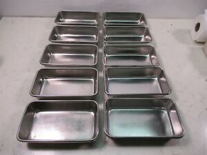 Lot Of 10 Polar Ware Vollrath Stainless Steel Instrument Trays 8 1 2 X 5
