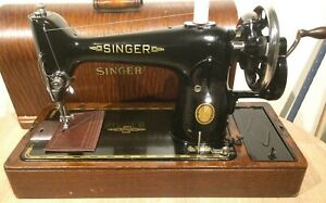 Vintage Singer 201k 201 Handcrank Sewing Machine For Leather