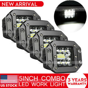 4x 3inch 120w Cree Led Work Light Cube Pods Driving Work Fog Spot Light Flood