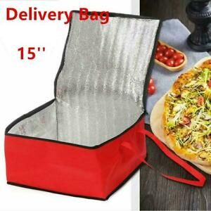 Hot Food Pizza Takeaway Restaurant Delivery Bag Thermal Insulated 15 Inch Picnic