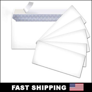 Peel And Self seal White Letter Mailing Envelopes Security 4 1 8 X 9 1 2 No 10