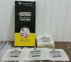 New Hastings Piston Ring Set 2c673 Std 8 Cyl 3 500 In Bore Chevy 402 455 Gmc Nos