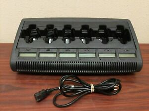 Impres Nntn7072b 6 Bay Motorola Charger W Lcd Displays And Power Cord