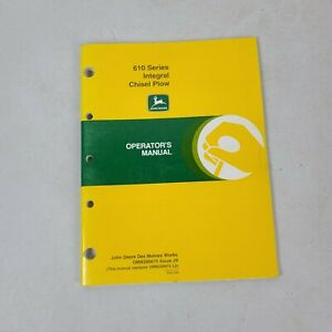 John Deere Operators Manual 610 Integral Chisel Plow