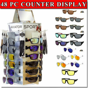 Sunglass Counter Display Spinning Bottom With 48 Glasses Included Sunglass Rack