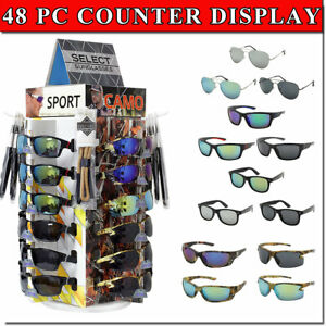 Sunglass Counter Display Spinning Bottom 48 Assorted Glasses Included Retail Now