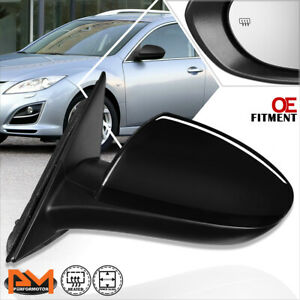 For 09 13 Mazda 6 Oe Style Powered heated Side Rear View Door Mirror Driver Left