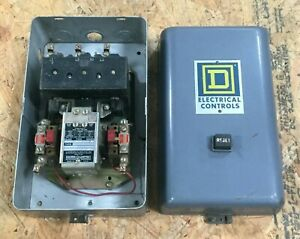 Square D Size 2 Motor Starter In Enclosure Class 8536 Type Dg 1 Ser A