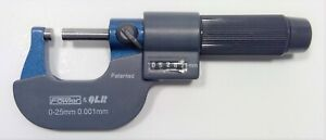 Fowler 0 25mmn Digit Outside Micrometer 52 222 225 No Case