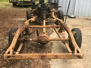 1963 Ford Galaxie Frame Rolling Chassis Engine Transmission 9 Rear End