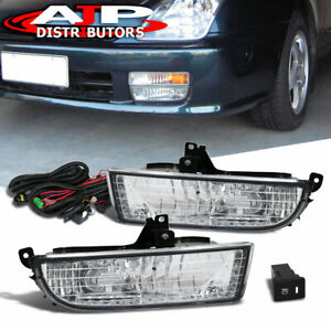 Chrome Driving Bumper Fog Lights Lamps Wiring Switch For 1997 2001 Honda Prelude