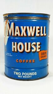 Vintage Maxwell House Coffee Tin BOX with Lid - Maxwell Coffee Turkey Limited