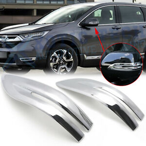 Chrome Side Rearview Mirror Stripe Cover Trim For Honda Cr V Crv 2017 2018 2019