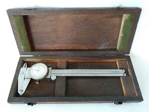 Mitutoyo 6 Dial Caliper No 505 626 50 In Original Wood Box Vintage