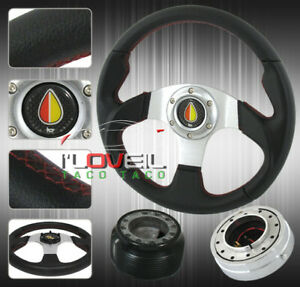 89 05 Eclipse Race 320mm Steering Wheel Mini Quick Release Hub Horn Button