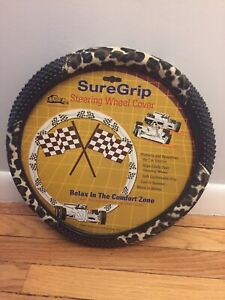 New Leopard Cheetah Steering Wheel Cover With Massage Grip