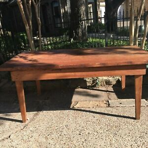 Hand Made Rustic Harvest Table Antique