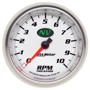Autometer 7497 Nv In Dash Tachometer Fits 1 4 Pulse Ignition Signals 3 3 8