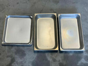 Lot Of 3x Vollrath Incubator Refrigerator Freezer Shelving Stainless Steel Trays