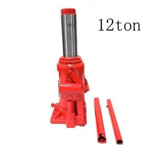 12 Ton Lift Hydraulic Bottle Jack Truck Off Road Automotive Max Height 15 7 10