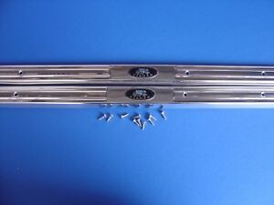 1959 59 1960 60 Chevrolet Impala Bel Air Door Sill Plates Trim Parts Usa Made