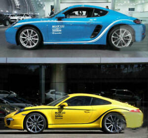 Graphics Stripe Car Sticker Side Skirt Decal Fit For Porsche 911 Boxster Gts 718
