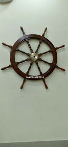 Nautical Vintage Beautiful 36 Wooden Ship Wheel