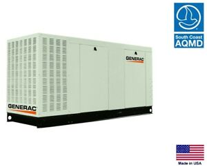 Standby Generator Commercial 70 Kw 120 240v 1 Phase Natural Gas Scaqmd