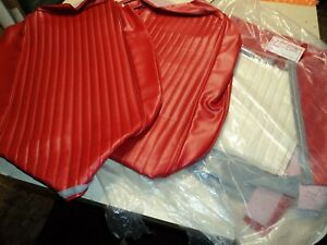 Corvette 1962 New Red Vinyl Seat Covers 62