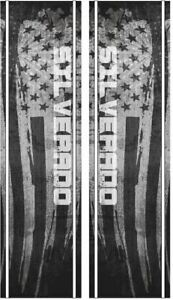 Silverado American Flag Truck Bed Band Stripes Decal Sticker Graphics