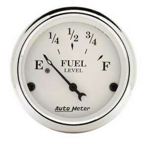 Auto Meter Old Tyme White 2 1 16in Fuel 240 33 Ohms