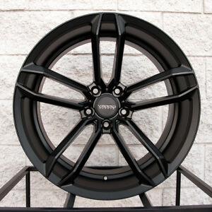 20 Varro Vd07 Staggered Wheels For Bmw X5 X6 Concave Rims Satin Black
