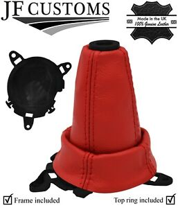 Red Leather Shift Boot frame ring For Honda Civic Type R Fn2 06 12