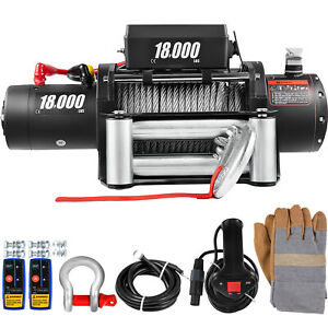 18000lbs Electric Winch 12v Steel Cable Off road Atv Utv Truck Towing Trailer
