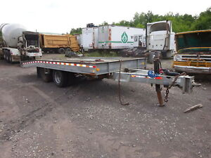 2004 American Tagalong Tilt Deck Trailer Galvanized No Rust Hydraulic Equipment