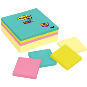 Post it Super Sticky Notes 654 24sscym 3 In X 3 In 76 Mm X 76 Mm