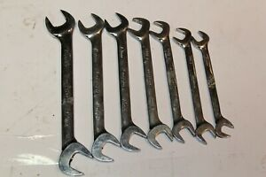Snap On Tools Metric Four Way Angle Head Open End Wrench Set 7pcs Usa