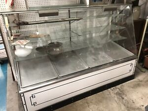 Vintage 74 Bakery Showcase Donuts Pastry Display Case Shelf Glass Cabinet