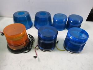 Lot Of Security Strobes Blue And Orange With 4 Extra Domes Tomar 801bl