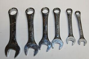 Sk Tools 12 Point Fractional Short Combination Wrench Set 6pc Usa